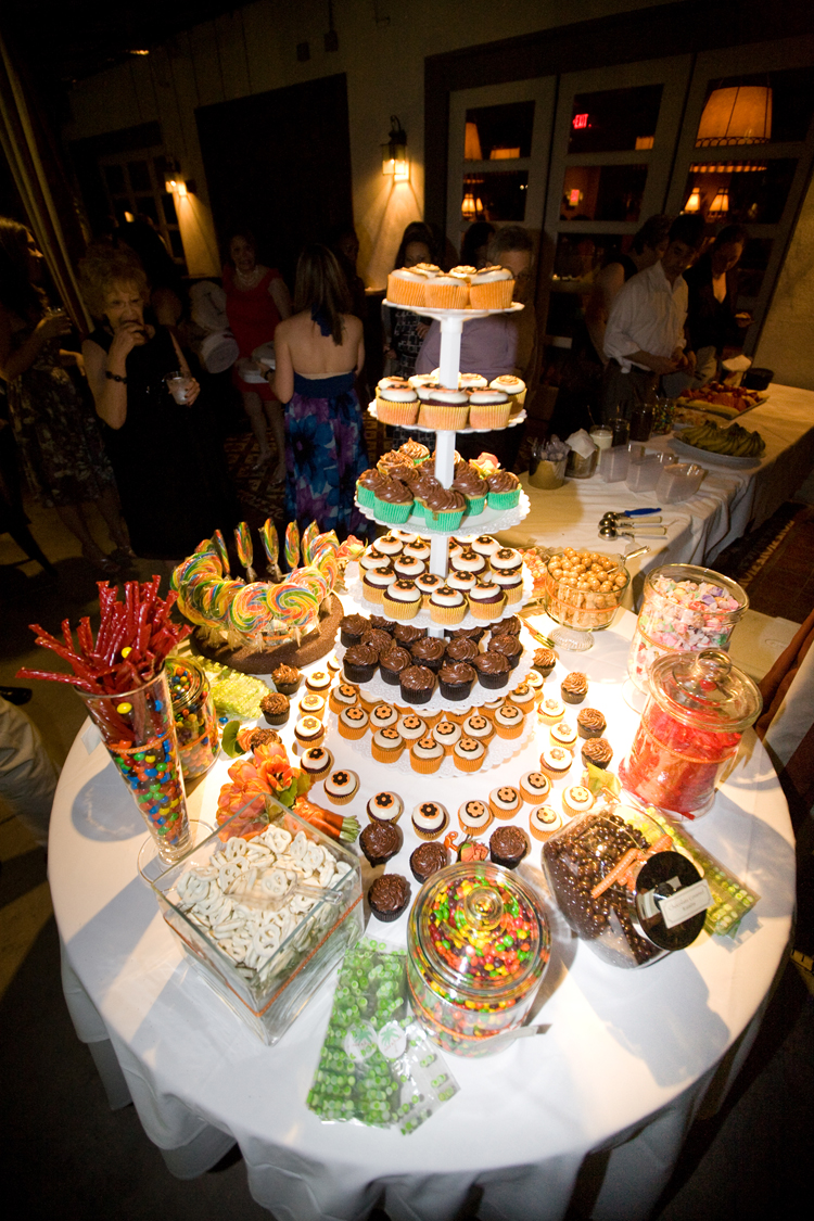 Wedding Cupcake + Candy Buffet